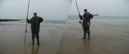 Vissen aan Dishoek Strandweg