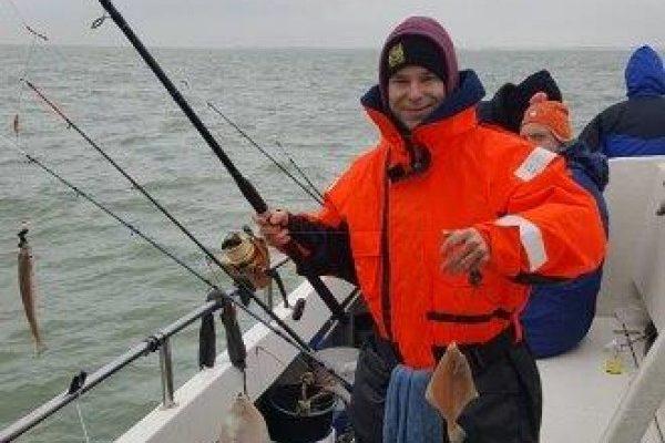 De Zeearend, ankervissen Westerschelde