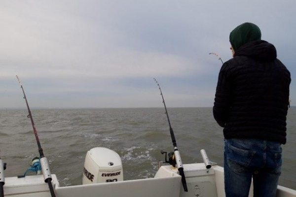 Tom en Niels, bootvissen Hansweert(Westerschelde)