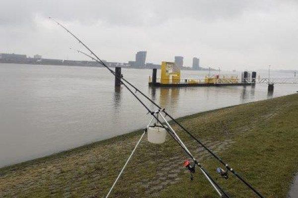 Stefan, vissen aan de Landtong