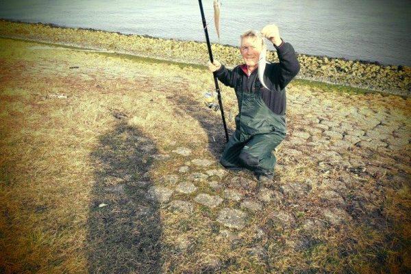 Henry en Jack, vissen aan de Waterweg