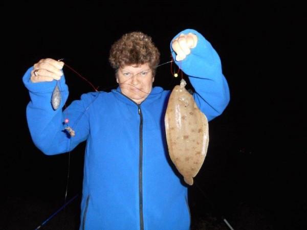 Vissen aan de Waterweg, met ons Marian