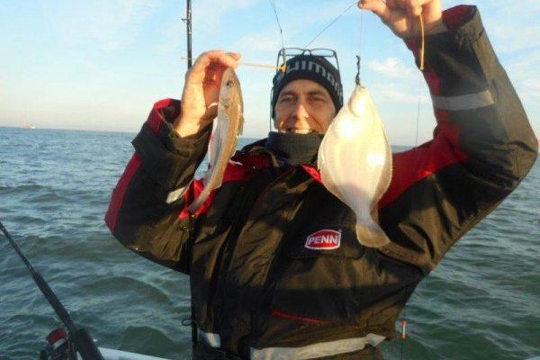 Vissen in de Voordelta, met Frank