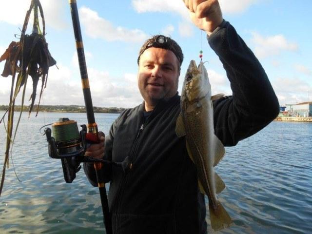 Vissen in Denemarken(Nyborg), met Leon