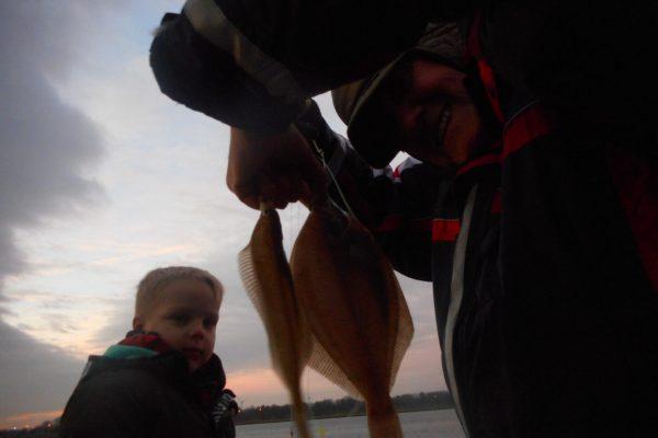 Met Jeff en zijn 3 musketiers, vissen aan de Waterweg