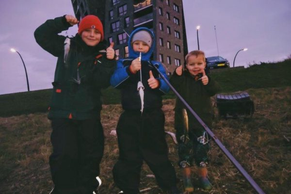 Vissen aan de Waterweg, Jeff en kids