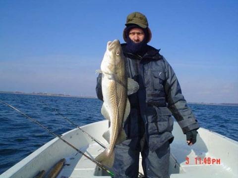 Winter vissen in Langeland, Denemarken, Frank, Silvio, Ad en