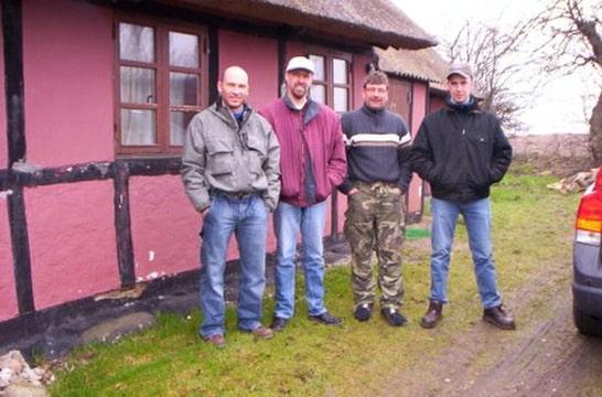 Vissen in Langeland Denemarken, Frank, Sis, Herbert en ik