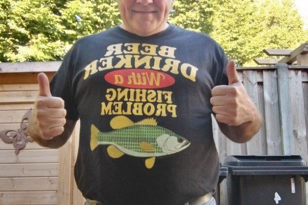 Gino, vissen aan de Waterweg