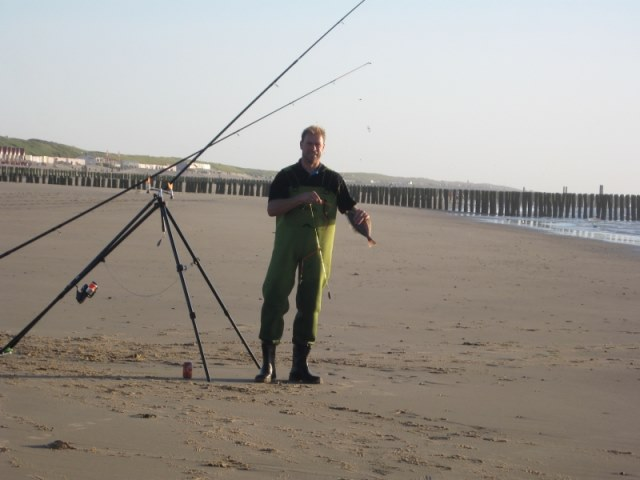 Strandvissen samen met Richard