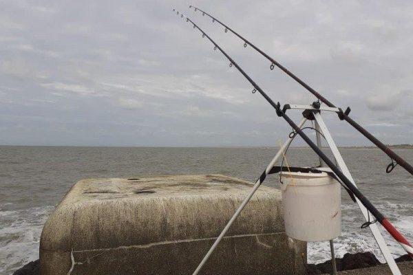 Stefan, vissen bij Wijk aan Zee