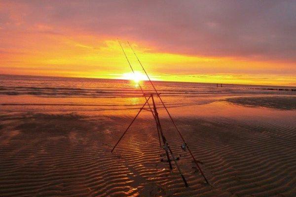 Huib, winter visserij aan Zoutelande