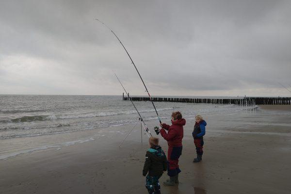 Jeff en kids, strandvisserij Walcheren
