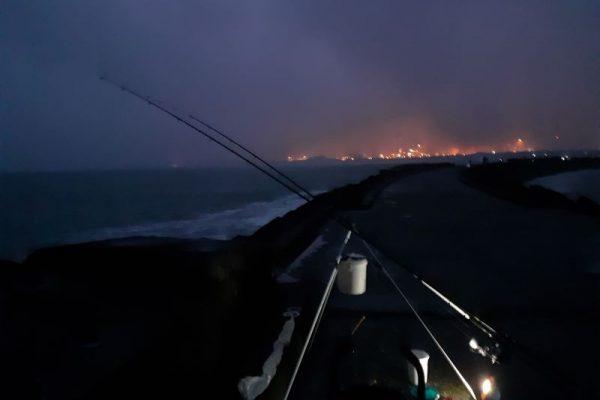 Stefan, vissen aan de Noorderpier