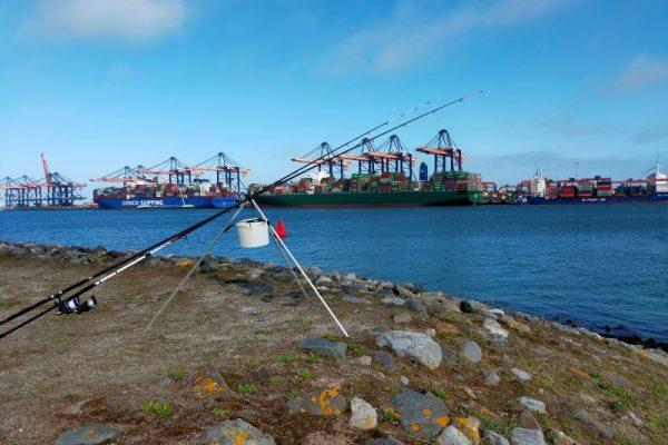 Stefan, vissen aan de Yangtzehaven