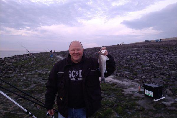 Jeff en Gino, vissen aan Westkapelle