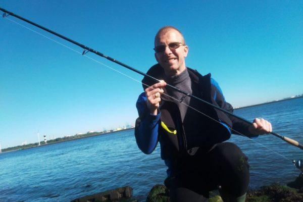 Stefan, vissen op Zeebaars, HvH